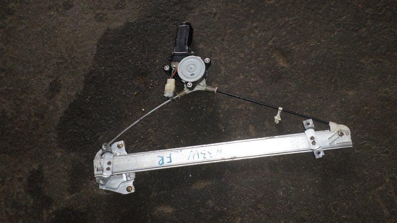 Стеклоподъемный механизм Mitsubishi Chariot N33W 4G63 передний правый