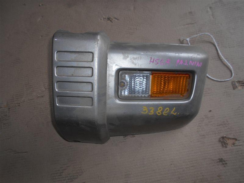 Клык бампера Mitsubishi Pajero Mini H56A 4A30 передний левый