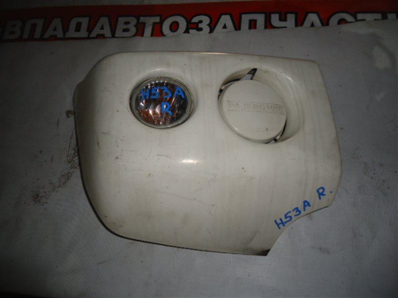 Клык бампера Mitsubishi Pajero Mini H53A передний правый