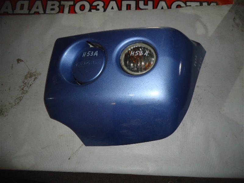 Клык бампера Mitsubishi Pajero Mini H53A передний левый