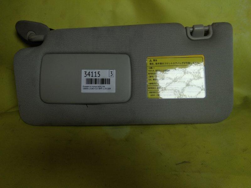 Козырек от солнца Subaru Legacy BM9 EJ25 11.09.2009 передний левый