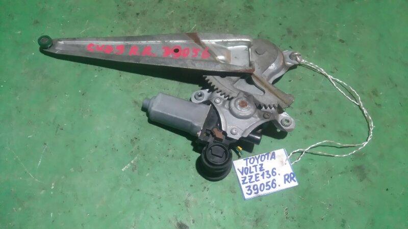 Стеклоподъемный механизм Toyota Voltz ZZE136 1ZZ-FE 2002 задний правый