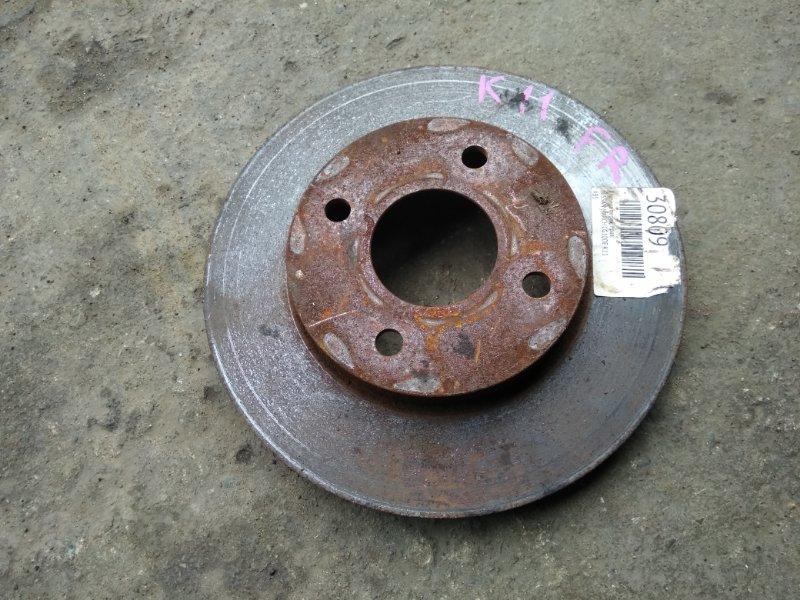 Тормозной диск Nissan March K11 CG10DE передний правый