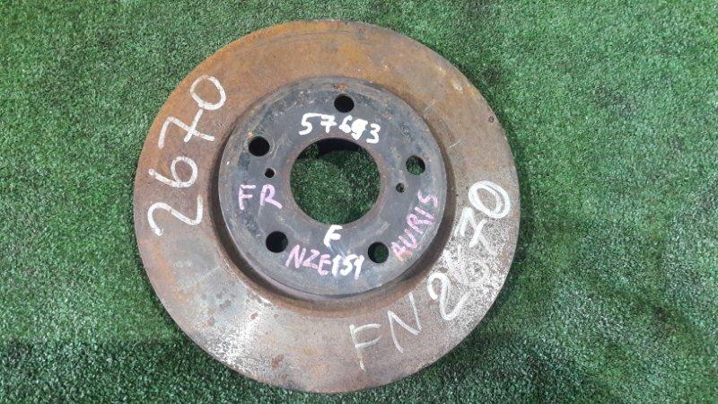 Тормозной диск Toyota Auris NZE151 1NZ-FE передний