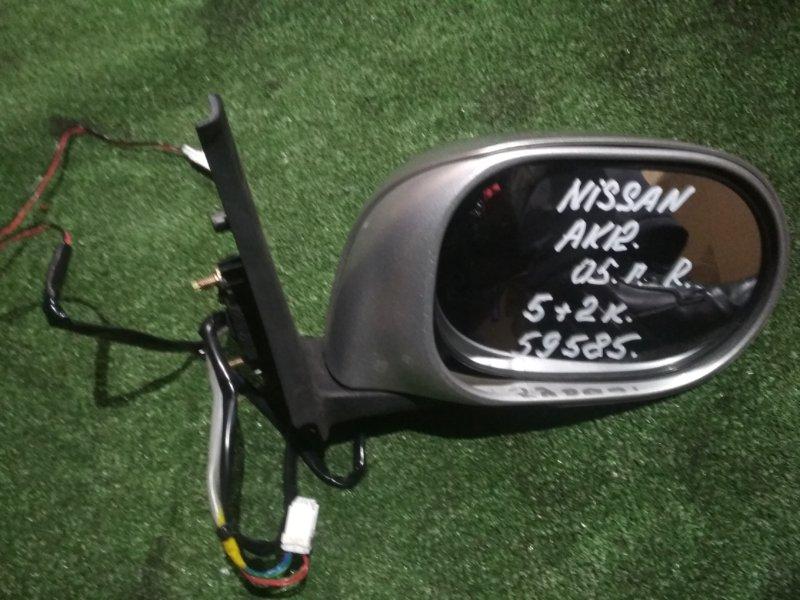 Зеркало Nissan March AK12 CR12DE 2005 правое