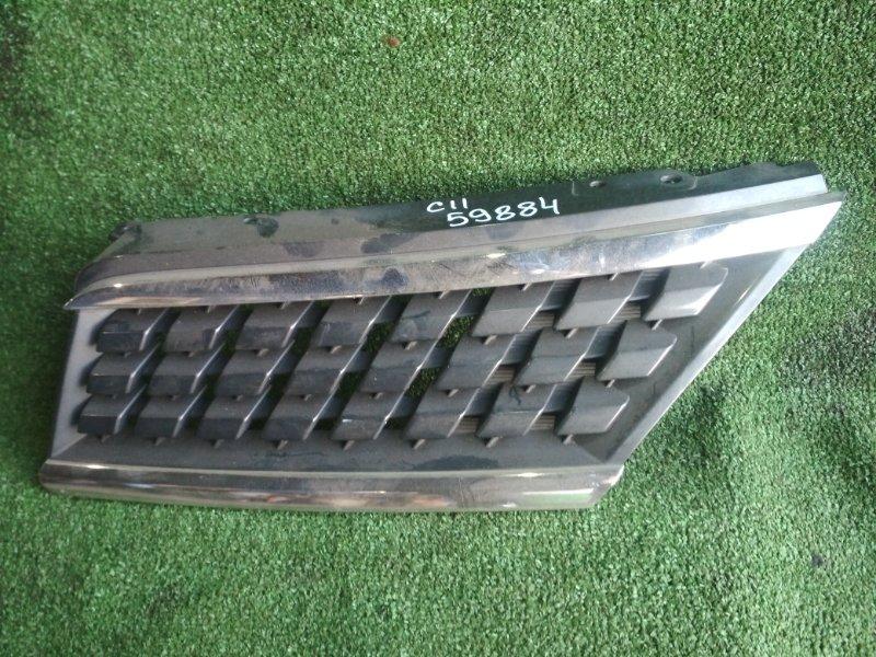 Решетка радиатора Nissan Tiida C11 HR15DE левая