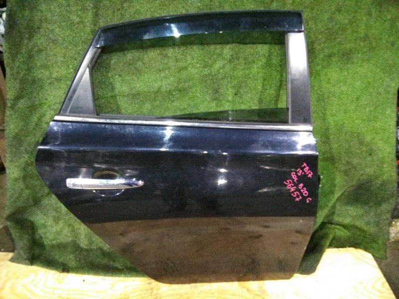 Дверь Nissan Bluebird Sylphy TB17 MRA8 2013 задняя правая