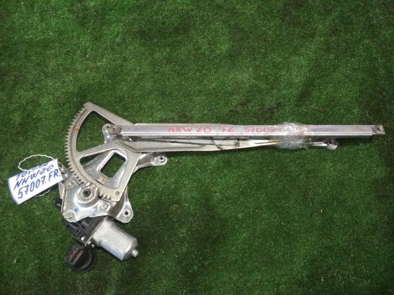 Стеклоподъемный механизм Toyota Prius NHW20 1NZ-FXE 2005 передний правый