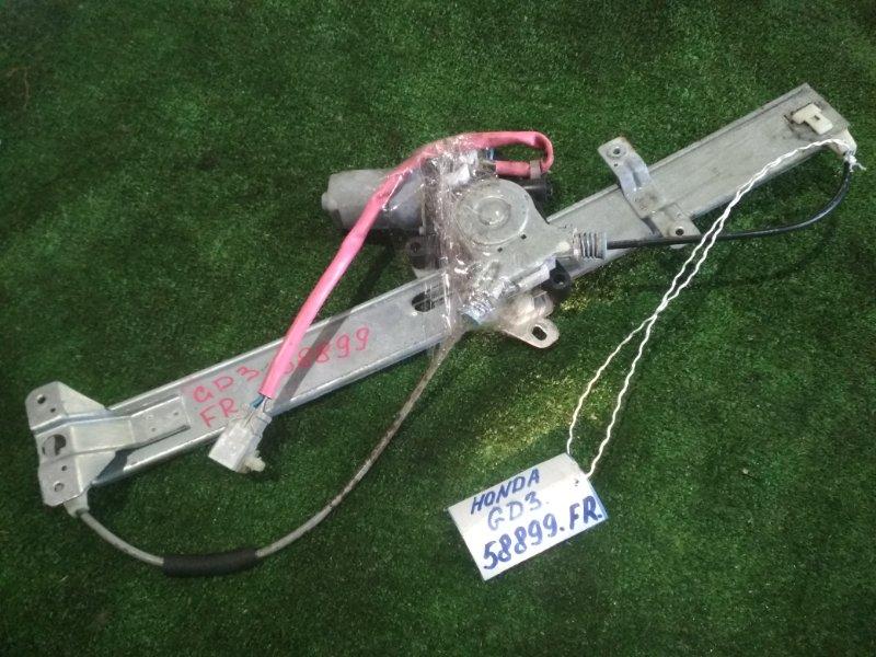 Стеклоподъемный механизм Honda Fit GD3 L15A 2004 передний правый