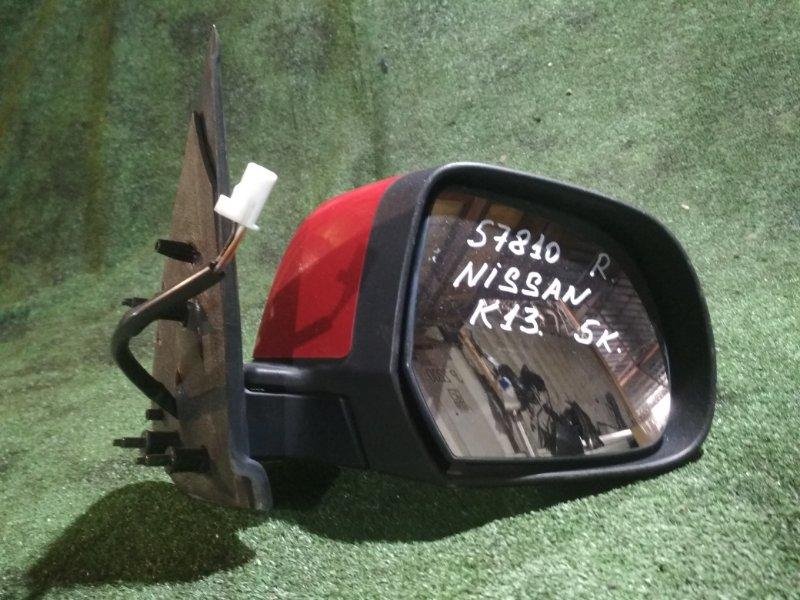 Зеркало Nissan March K13 HR12DE 2010 правое