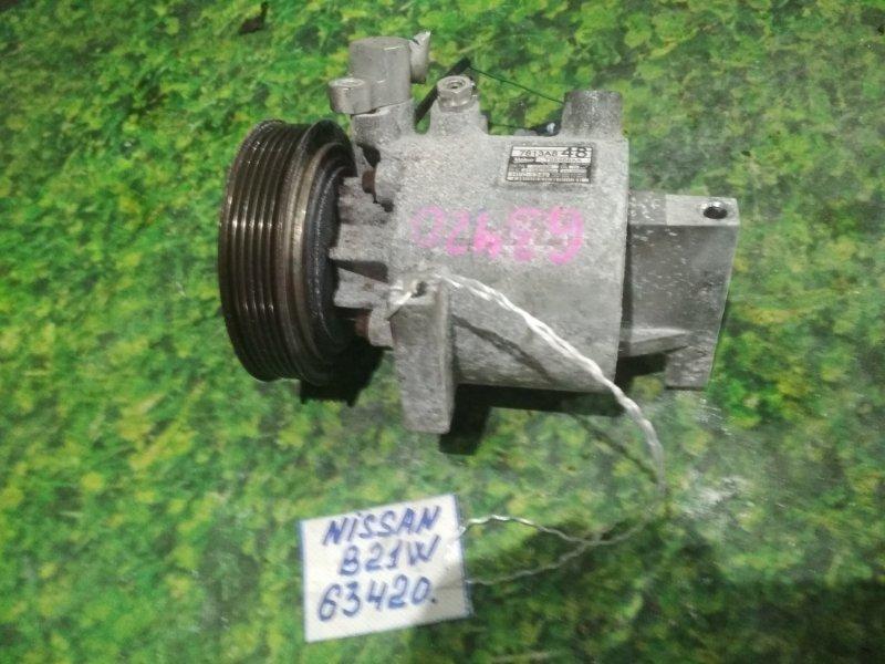 Компрессор кондиционера Nissan Dayz B21W 3B20