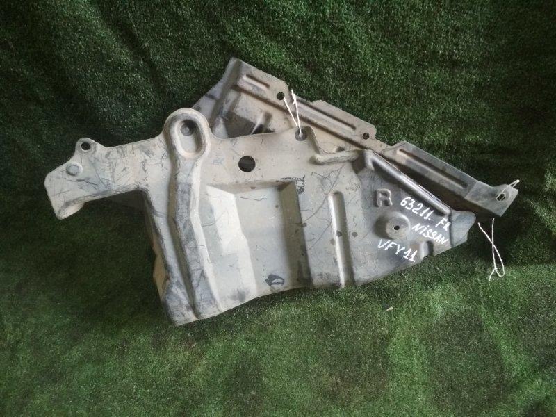 Защита двигателя Nissan Ad VFY11 QG15DE передняя правая