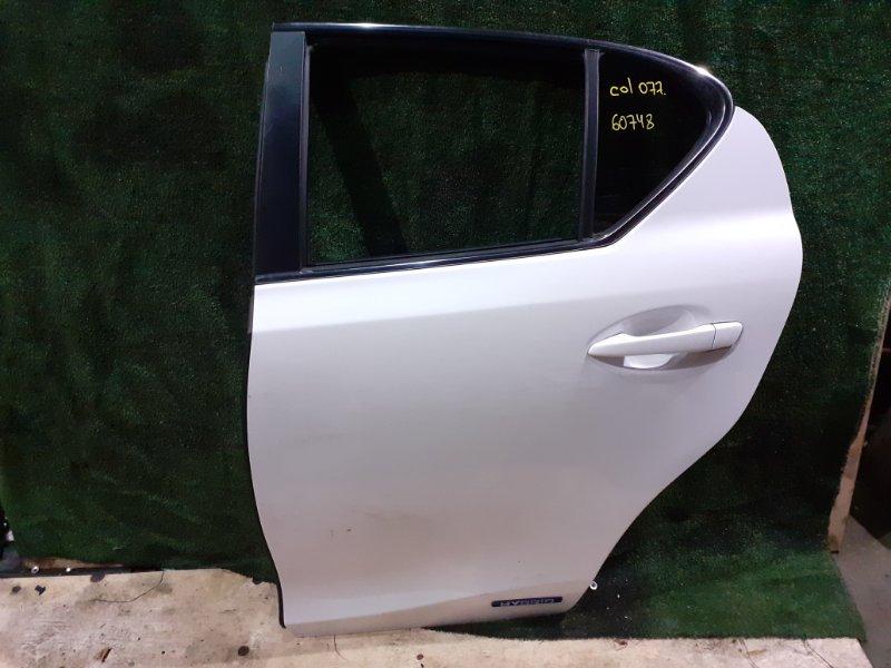 Дверь Lexus Ct200H ZWA10 2ZRFXE задняя левая