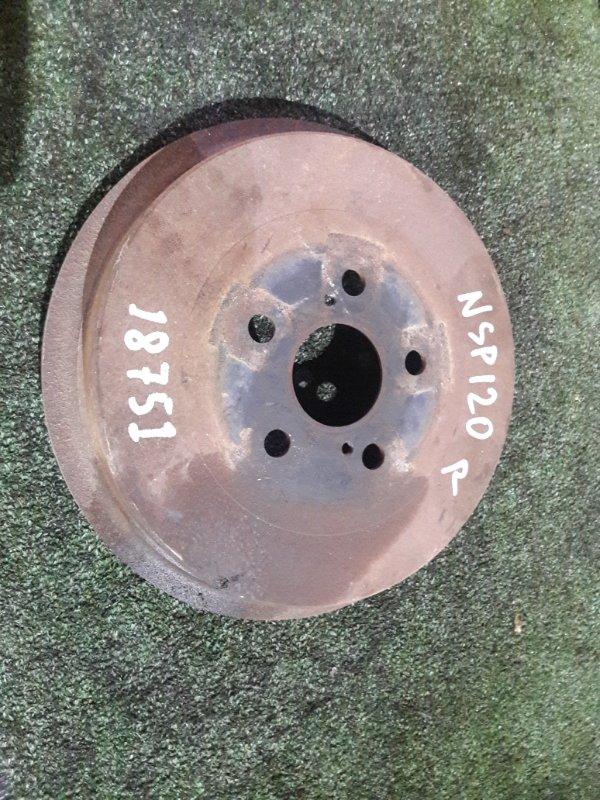 Тормозной диск Toyota Ractis NSP120 1NR-FE задний