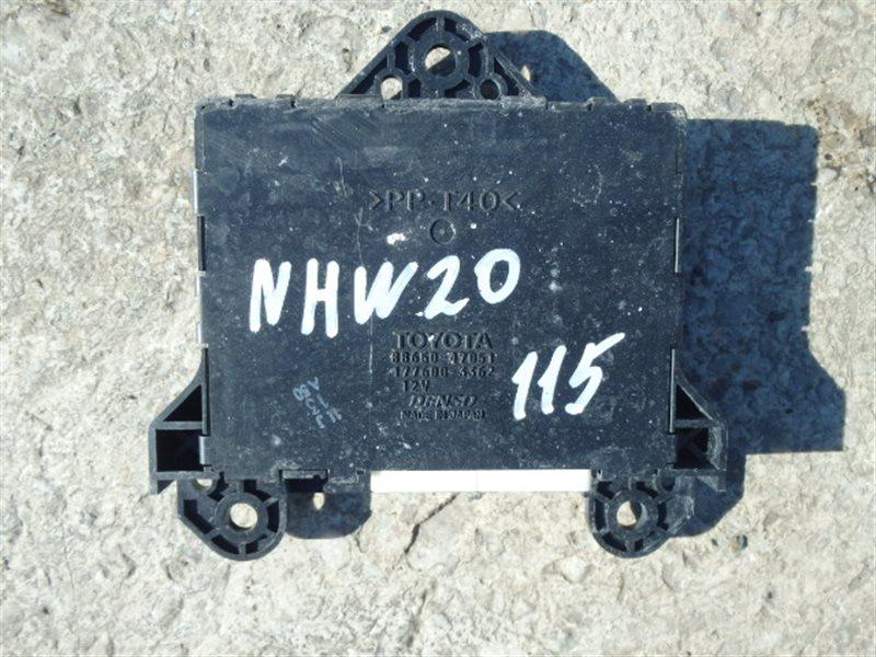 Блок управления кондиционером Toyota Prius NHW20 1NZ-FXE 2007