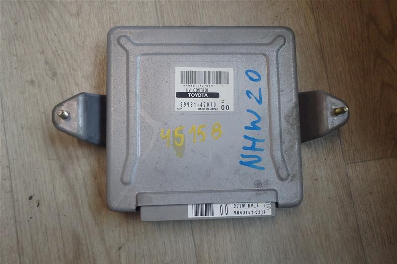 Блок управления инвертором Toyota Prius NHW20 1NZ-FXE