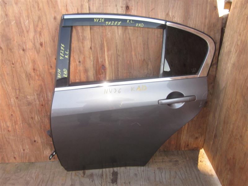 Дверь Nissan Skyline NV36 VQ25HR 2011 задняя левая