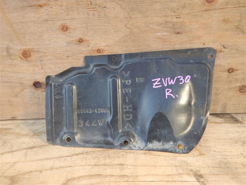 Защита двс Toyota Prius ZVW30 2ZR-FXE 2012 правая