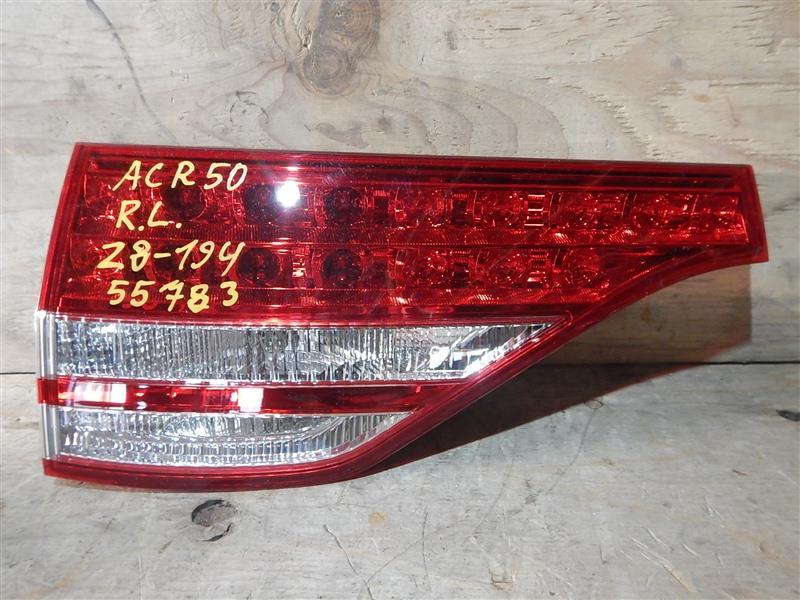 Стоп-вставка Toyota Estima ACR50 2AZ-FE задняя левая