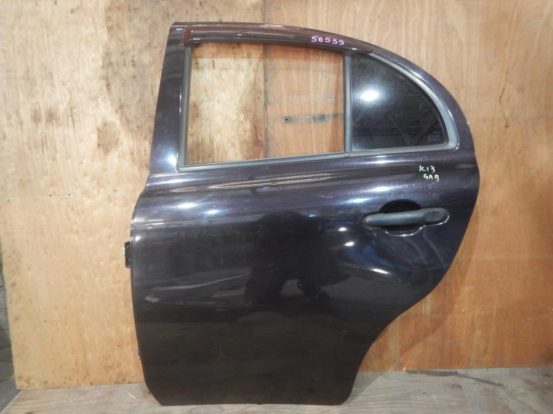 Дверь Nissan March K13 HR12DE 2011 задняя левая