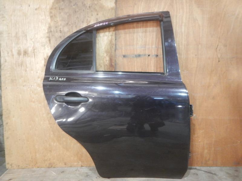 Дверь Nissan March K13 HR12DE 2011 задняя правая