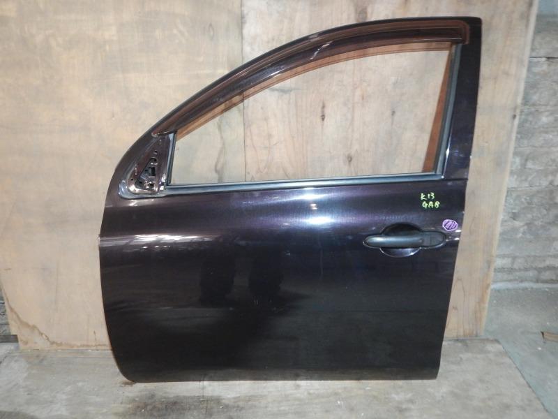 Дверь Nissan March K13 HR12DE 2011 передняя левая