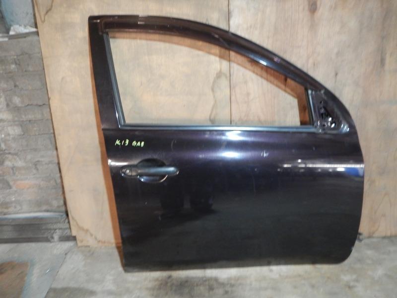 Дверь Nissan March K13 HR12DE 2011 передняя правая