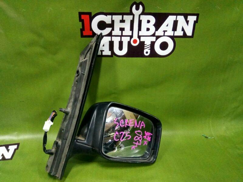 Зеркало бокового вида переднее правое NISSAN SERENA C25 MR20DE контрактная