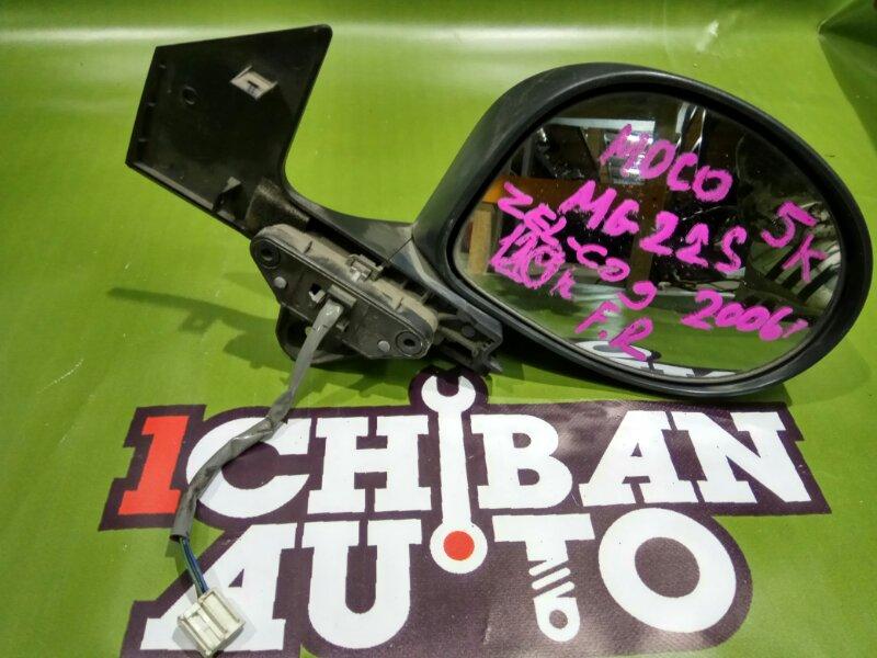 Зеркало бокового вида переднее правое NISSAN MOCO 2006 MG22S K6A 963014A03D контрактная