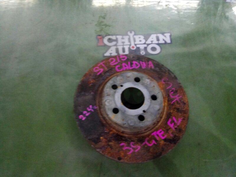 Тормозной диск передний TOYOTA CALDINA ST215 3S-GTE 43512-20600 Б/У