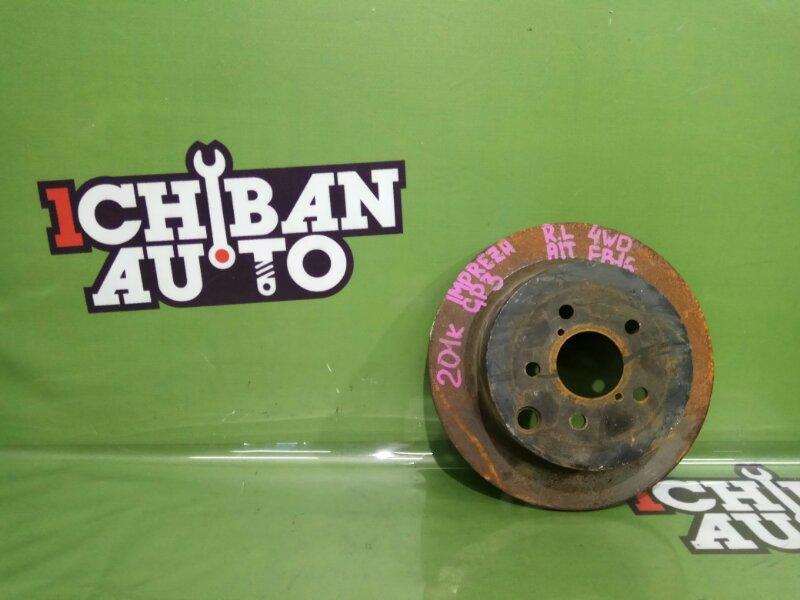 Тормозной диск задний SUBARU IMPREZA GP3 FB16 контрактная