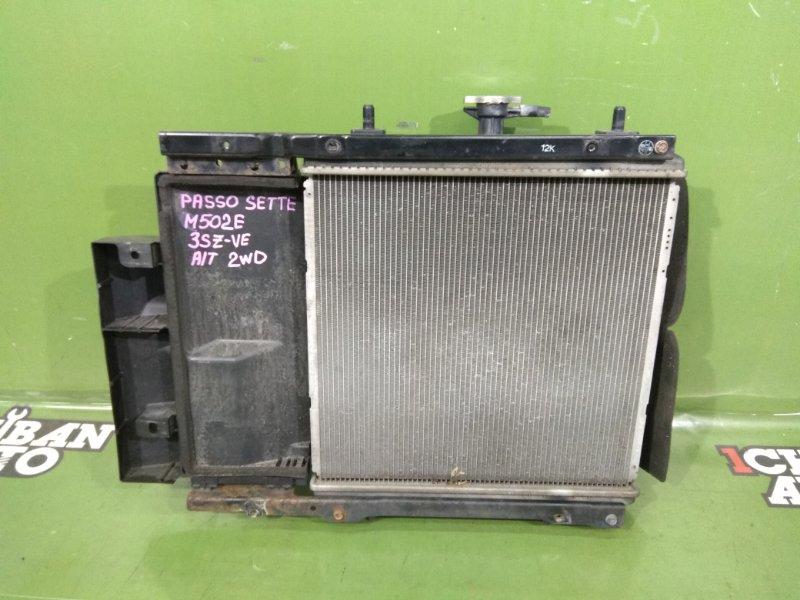 Радиатор основной TOYOTA PASSO SETTE M502E 3SZ-VE 16400-B1210 контрактная