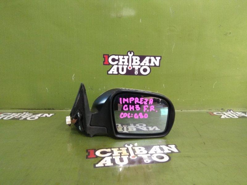 Зеркало бокового вида переднее правое SUBARU IMPREZA GH3 контрактная