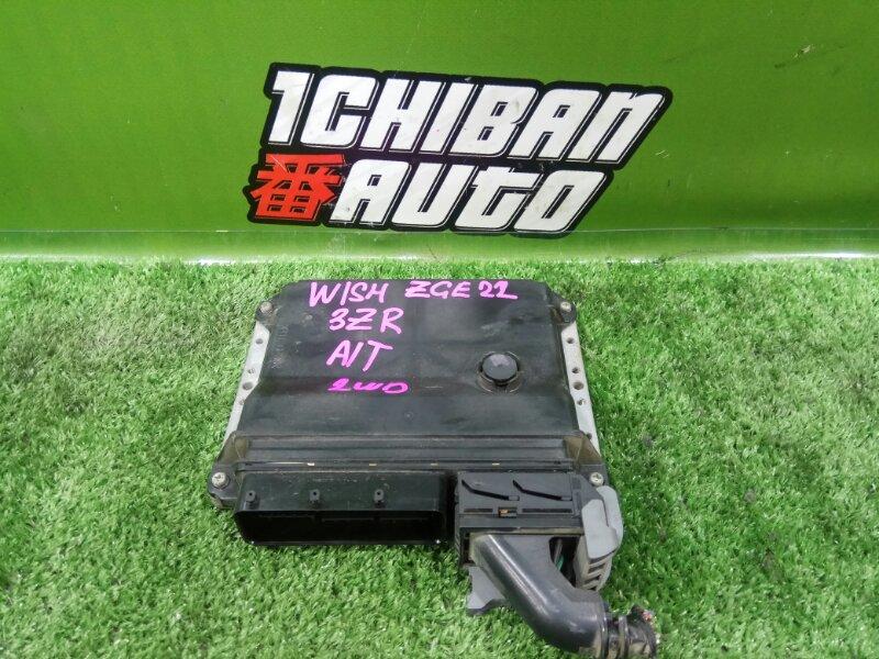 Блок управления efi TOYOTA WISH ZGE22 3ZR-FAE контрактная