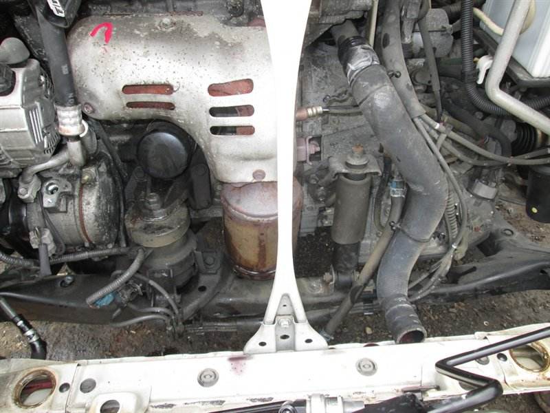 Амортизатор двигателя Toyota Harrier MCU15 1MZ-FE 2001 передний белый 1061