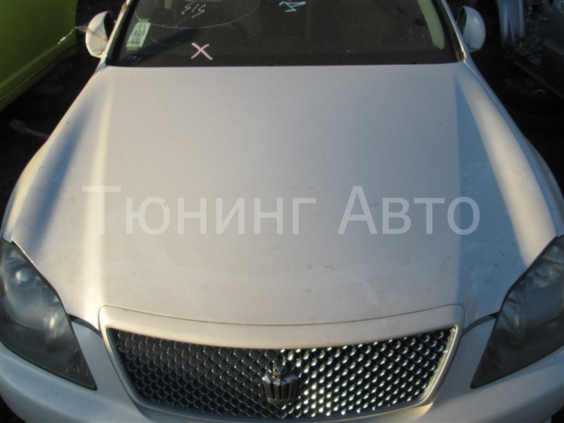Капот Toyota Crown GRS182 3GR-FSE 2004 белый 062 1174