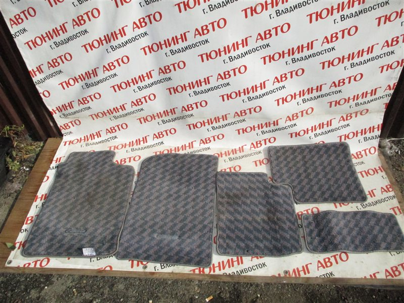 Коврики комплект Toyota Carina AT210 4A-GE BLACK TOP 1999 1229