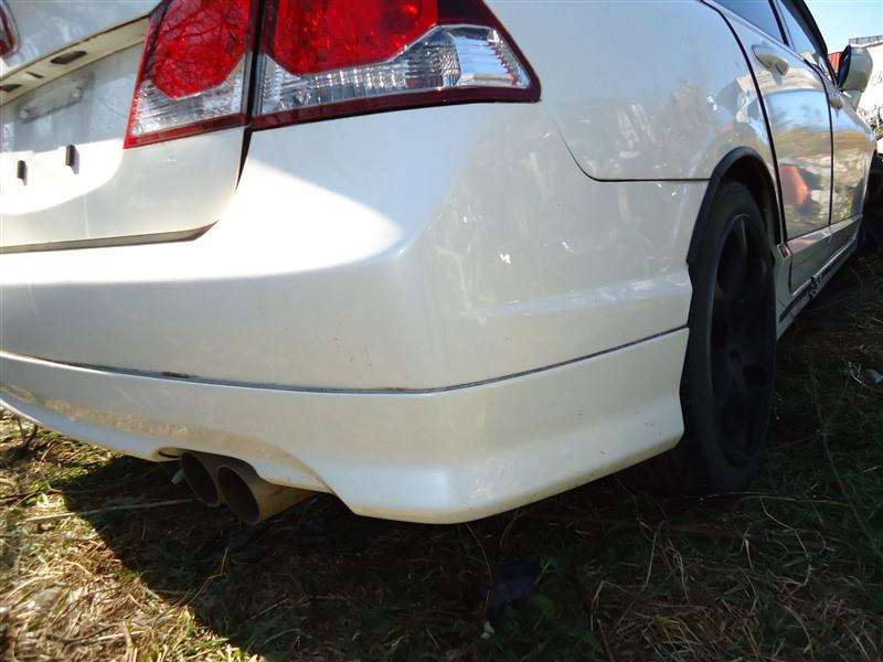 Губа Honda Civic FD2 K20A 2010 задняя белый nh624p 1306