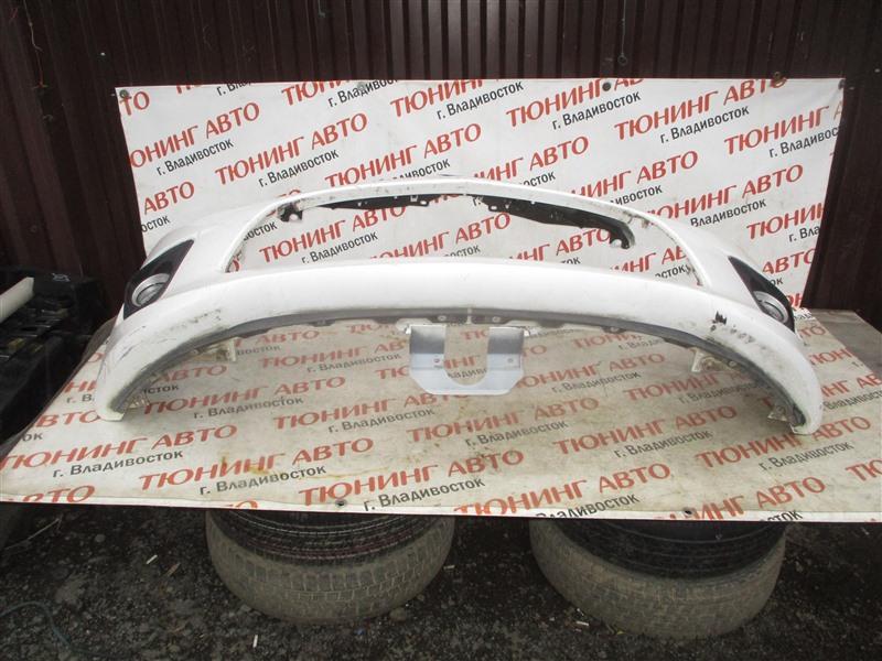 Бампер Mazda Demio DE5FS ZY-VE 2009 передний белый 5050