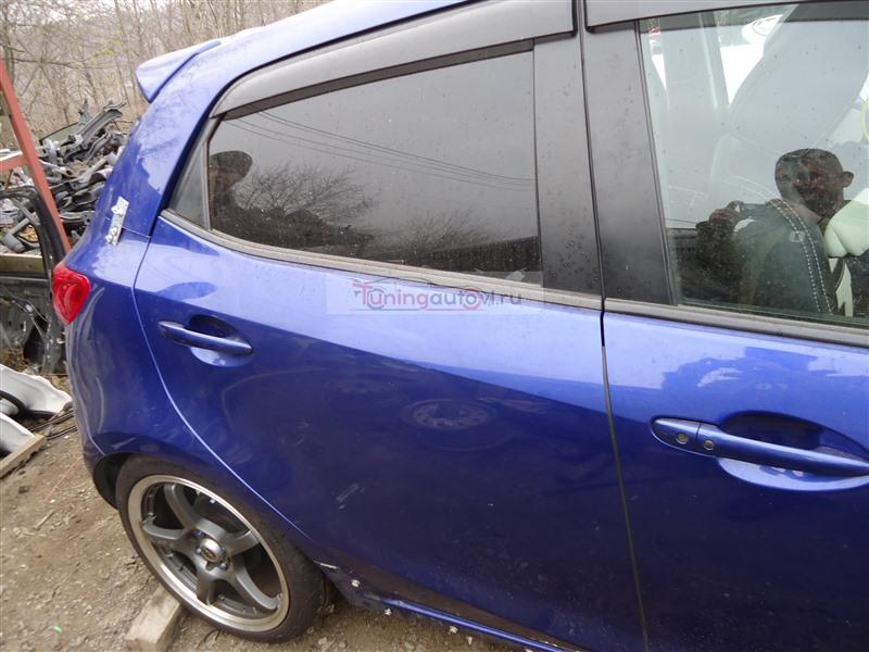 Дверь Mazda Demio DE5FS ZY-VE 2008 задняя правая синий 34j 1361