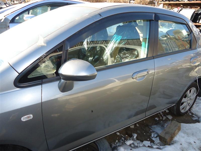 Дверь Honda Fit Aria GD6 L15A 2006 передняя левая серый nh691m 1373