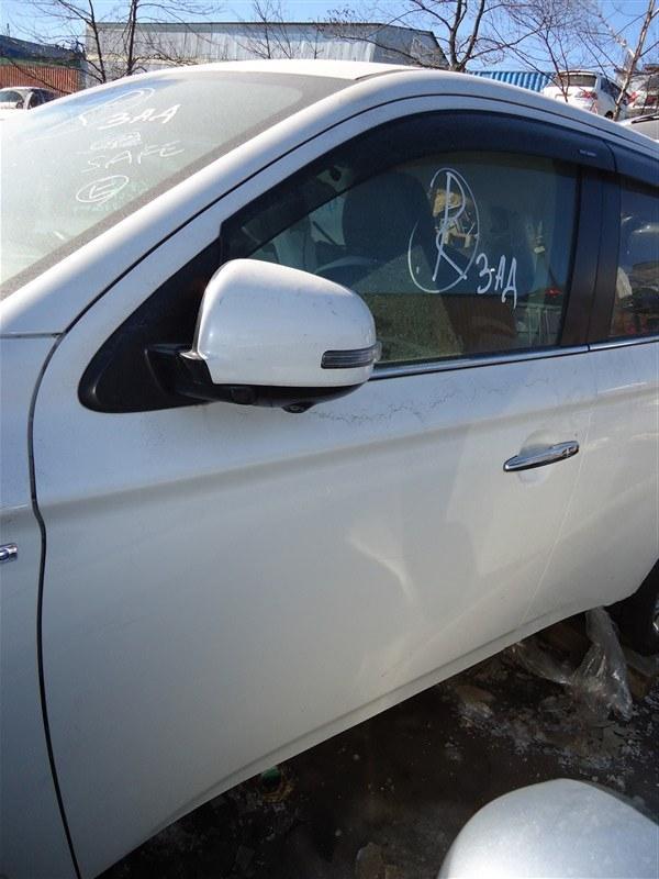 Дверь Mitsubishi Outlander GG2W 4B11 2014 передняя левая белый w13 1386