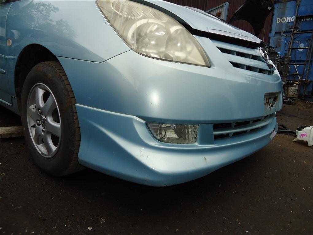 Бампер Toyota Corolla Spacio ZZE122N 1ZZ-FE 2004 передний голубой 761 1407
