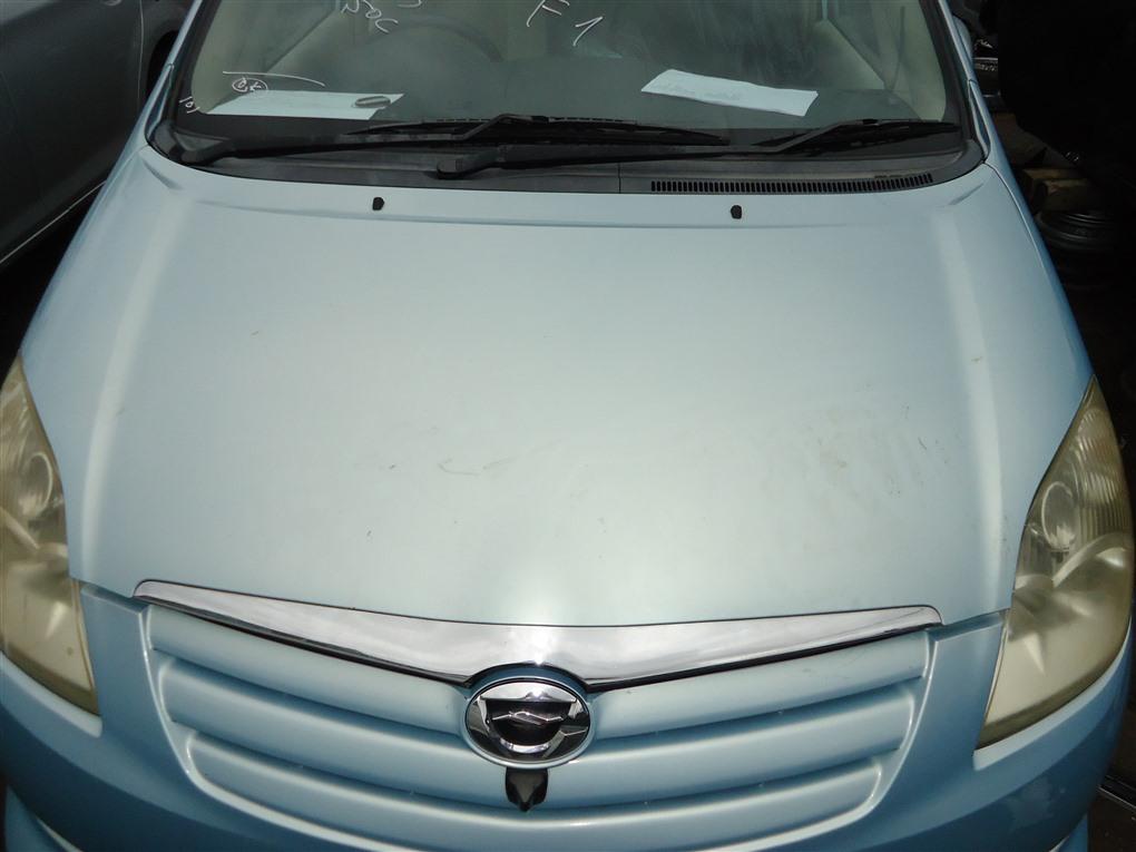 Капот Toyota Corolla Spacio ZZE122N 1ZZ-FE 2004 голубой 761 1407