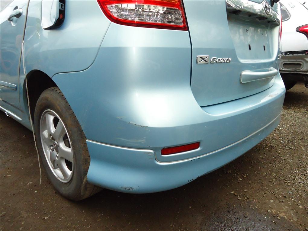 Бампер Toyota Corolla Spacio ZZE122N 1ZZ-FE 2004 задний голубой 761 1407
