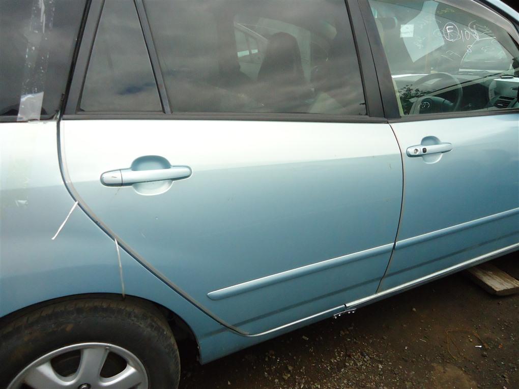Дверь Toyota Corolla Spacio ZZE122N 1ZZ-FE 2004 задняя правая голубой 761 1407
