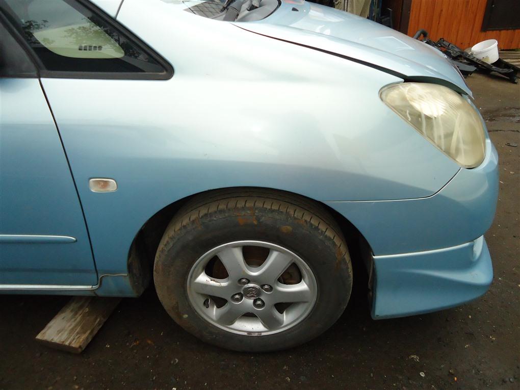 Крыло Toyota Corolla Spacio ZZE122N 1ZZ-FE 2004 переднее правое голубой 761 1407