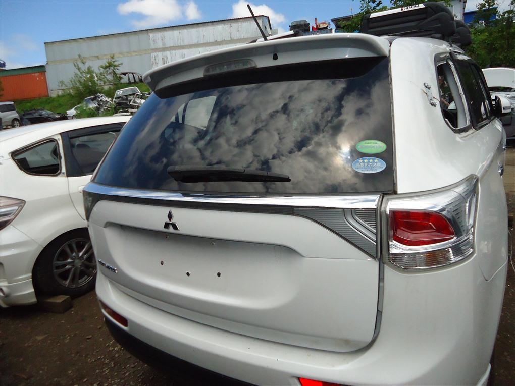 Дверь 5-я Mitsubishi Outlander GF8W 4J12 2013 белый перламутр w13 1408