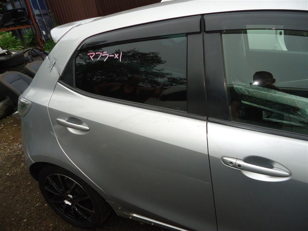 Дверь Mazda Demio DE5FS ZY-VE 2007 задняя правая серебристый 22v 1414