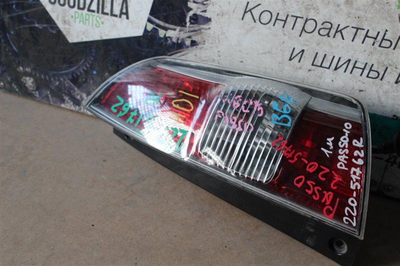 Стоп-сигнал Toyota Passo QNC10 задний правый